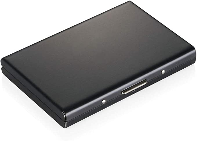 150 opinioni per Vicloon Porta Carte, RFID e NFC Blocking Porta Tessere Credito in Acciaio Inox