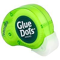 Dispensador de puntos N 'Go extraíbles con puntos de pegamento con 200 (.375 pulgadas) puntos adhesivos extraíbles (03670A)