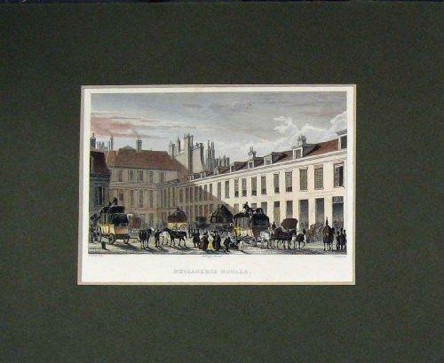 Hand Coloured Print 1829 Paris Messagerie Royale Daives