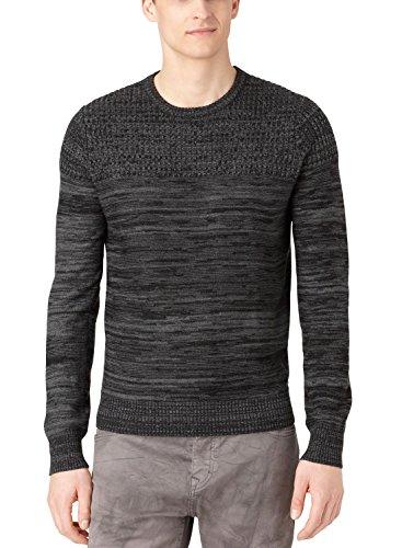 Calvin Klein Jeans Men's Parallel Knit Stripe Sweater, Black, (Jean Stripe Sweater)