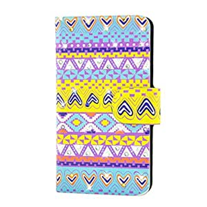 Generic Rhinestone Colorful Nation Style Design Card Slot Magnetic PU Leather Flip Case Cover Compatible For Samsung Galaxy Gio s5660