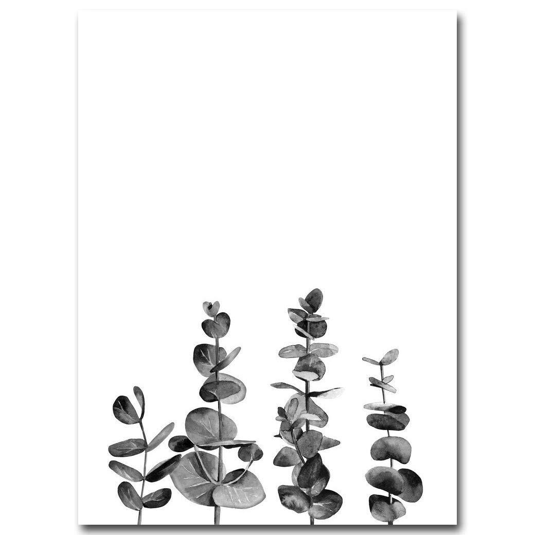 Black White Cactus Flower Plants Canvas Poster Minimalist Wall Art Prints