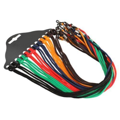 EUBUY Nylon Cord 12 Pcs Colorful Safety Adjustable Eyewear Braided Eyeglass Reading Sunglass Neck Strap Rope Lanyard Holder (Colorful)