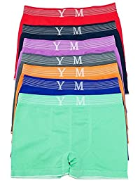 COLLECTION YVES MARTIN | Big Boys Seamless Boxer Briefs (Kids) | 7 Pack (2345/7)