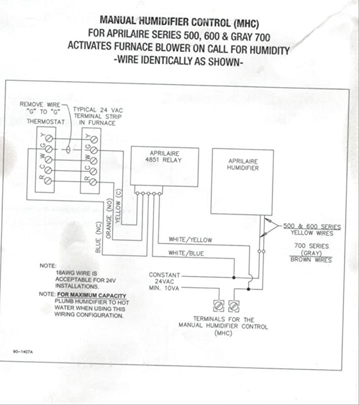 Aprilaire 600a Wiring Diagram