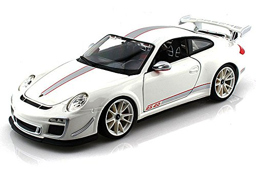 - 11036w Bburago - Porsche 911 Gt3 Rs 4.0 Hard Top (1:18, White) 11036 Diecast Car Model Auto Vehicle Die Cast Metal Iron Toy Transport