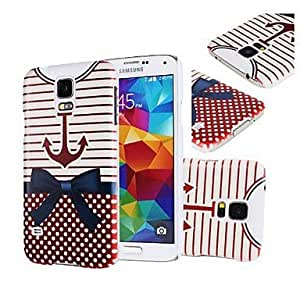 PEACH- Anchor Nautical Hard Plastic Case Cover for Samsung Galaxy S5 I9600