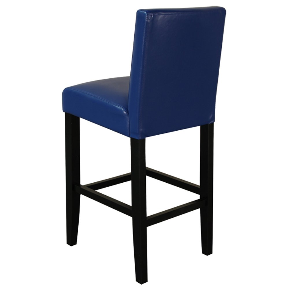 Amazon com monsoon pacific villa faux leather counter stool blue set of 2 kitchen dining