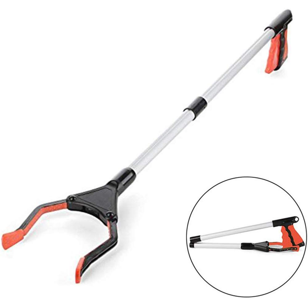 AILSAYA 32'' Grabber Reacher, Suitable for Disabled People, Auxiliary Tools, Foldable Pick Up Long Arm Reacher Picker Upper Grabber Reaching Assist Tool for Trash Pick Up, Litter Picker, Arm Extension by AILSAYA
