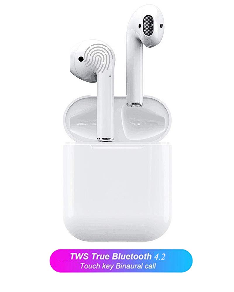 Bluetooth Kopfhörer 4.2 Kabellose In-Ear-Ohrhörer mit Tragbarer Ladenkästchen und Mikrofon kompatibel mit Apple iPhone iPad Samsung und Android Geräte