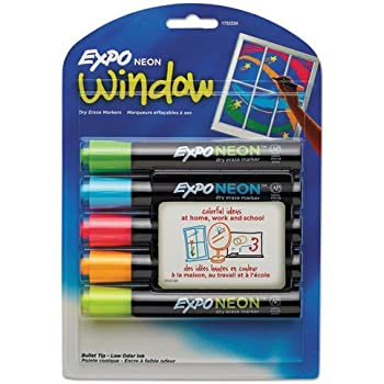 Amazon.com : EXPO 1752226 Neon Dry Erase Markers, Bullet