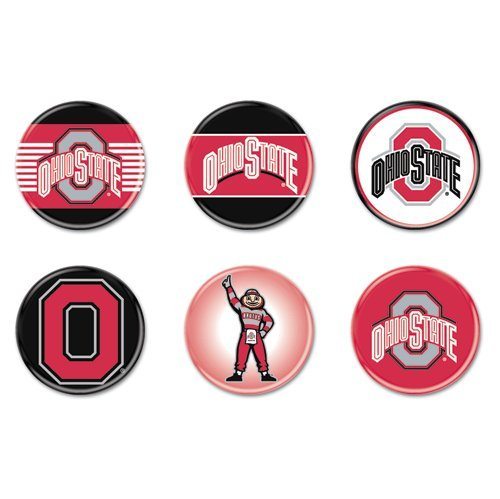 (WinCraft NCAA Ohio State University WCR90410014 Round Button (6 Pack),)