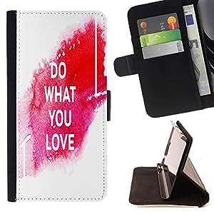 Dragon Case - FOR LG G3 - do what you love - Caja de la carpeta del caso en folio de cuero del tirš®n de la cubierta protectora Shell