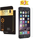 (2 Pack) IPhone 6s Screen Protector, Premium Tempered Glass 9H Anti Scratch Crystal Clear Screen Protector Film for Apple iPhone 6 and iPhone 6s 4.7