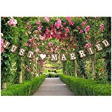 Just Married Wedding Bunting Cardboard Wedding Decoration, Vintage