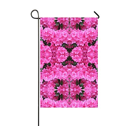 - Mirror Flower Seasonal Garden Flag, Double-sided Flags for Outdoor Yard Decoration, Polyester Fabric,12x18