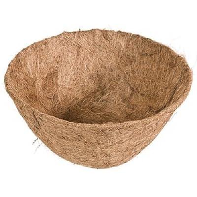 "Panacea 88591 12"" Round Pre-Formed Coco Fiber Hanging Basket Liner - Quantity 4: Garden & Outdoor"