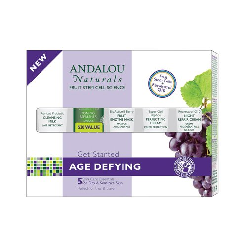 2 Packs of Andalou Naturals Get Started Age Defying - 5 Piece Kit