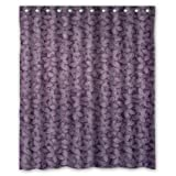 nhl shower curtain - CozyBath Lavender Waterproof Polyester Fabric 60