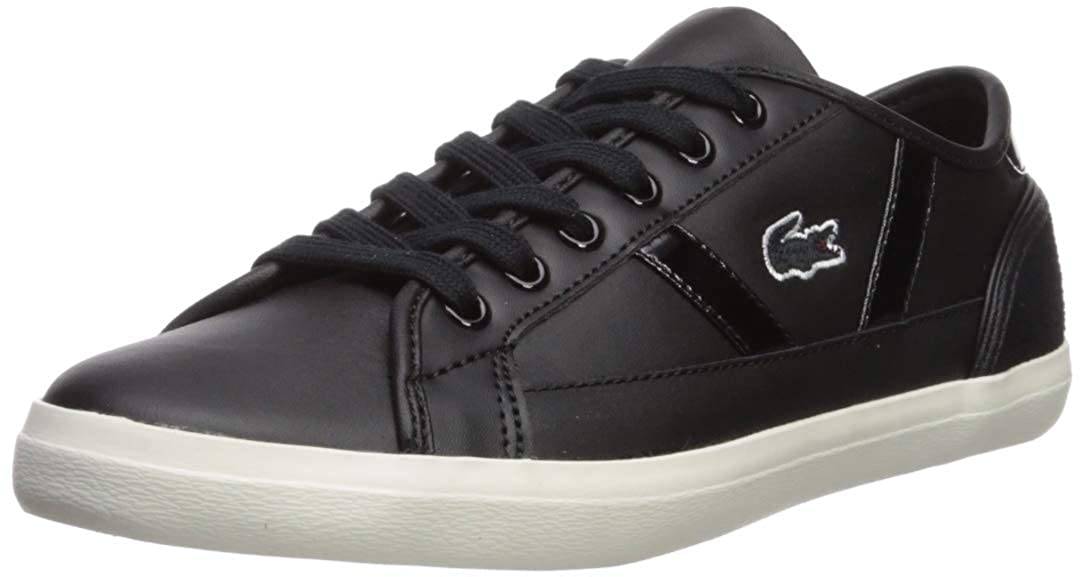 Black Off White Lacoste Womens Sideline Sneaker