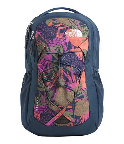 The North Face Women's Jester Backpack Four Leaf Clover Agave Print/Blue Wing Teal One Size