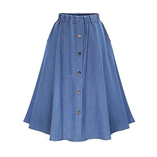 Just A Girl Denim Skirt - 4