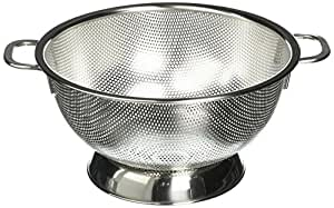 Precision Pierced Stainless Steel Colander 3 Qt