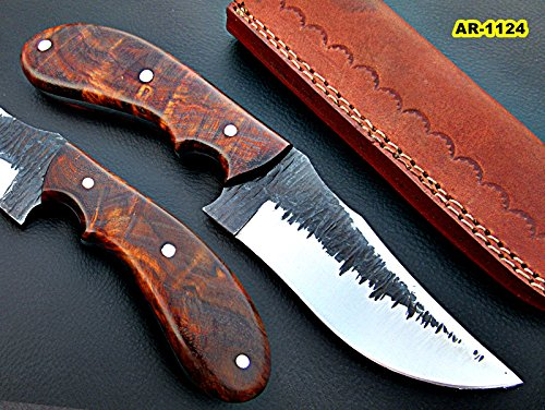 SK-1124, Custom Handmade Hi Carbon Steel Skinner Knife – Exotic Rose Wood Handle