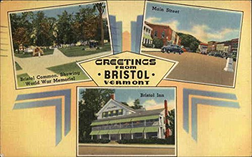 Greetings from Bristol, Vermont Bristol Original Vintage Postcard from CardCow Vintage Postcards