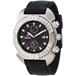 Swistar Men's 3219-5M Swiss Quartz Stainless Steel Dual Time Dress Watch