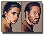 Timothee Chalamet Poster 11 x 17 inches Call Me by Your Name Armee Hammer Both Pic