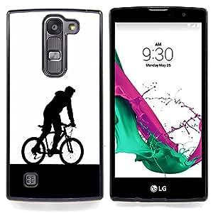 Eason Shop / Premium SLIM PC / Aliminium Casa Carcasa Funda Case Bandera Cover - Hombre de la bicicleta de la capilla de Arte del símbolo de Eco Deportes - For LG G4c Curve H522Y ( G4 MINI , NOT FOR LG G4 )