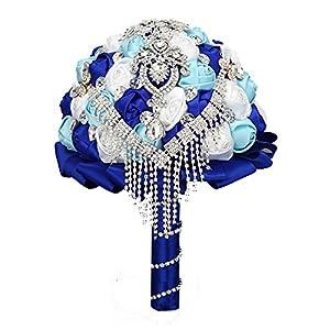 FAYBOX Handmade Rhinestone Brooch Stunning Tassel Wedding Bridal Bouquets 2