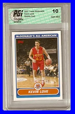 cc2eb3652 Amazon.com  KEVIN LOVE UCL 2007 Topps McDonalds Rookie Card PGI 10 ...