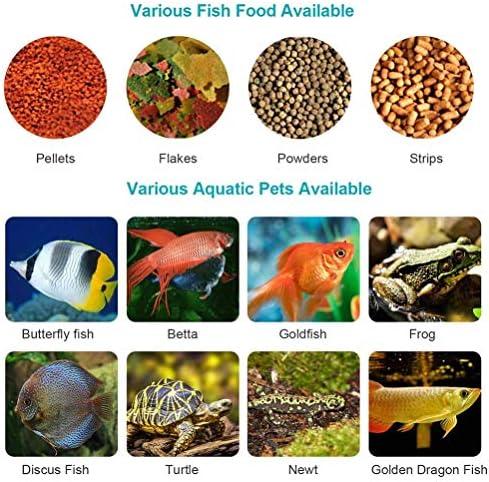 Auto alimentador de peces en acuario temporización inteligente 9