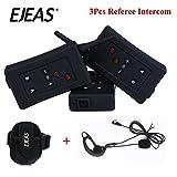 Vnetphone Football Referee Intercom Headset FBIM 1200M Wireless Full Duplex Bluetooth Interphone with FM 800mah (3 piece set)