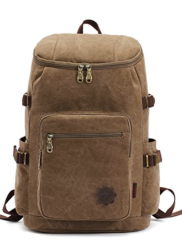 Canvas-College-Laptop-Backpack-Unisex-Outdoor-Vintage-Medium-Book-Bag