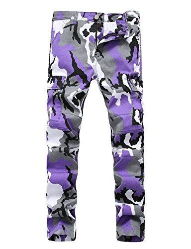 Purple Camouflage Pants - 8