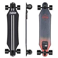 Description: Teamgee H5 Dual Motor Electric Longboard: it's not just a board, it's a lifestyle. This speed skateboard is 37 inches long, 8.7 inches wide, weighs 14.5 pounds and can hold a maximum weight of 200 pounds. Enjoy cruising with this...