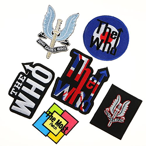 Lot of 6 (5+1) THE WHO Sword Special Air SAS Wins Country Rock Group Band Logo Songs Embroidered Iron / Sew On - Good Songs Halloween