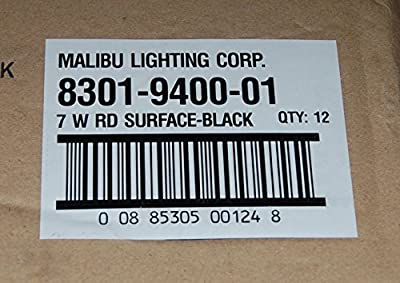 Malibu 8301-9400-01 7-Watt Low-Voltage Round Metal Surface Light, Black