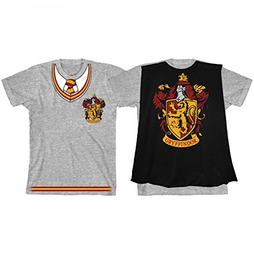 And Ron Costumes Hermione (Harry Potter Hogwarts House Gryffindor Costume Youth Cape T-shirt)