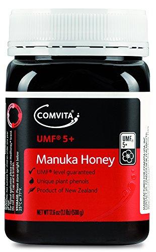 Comvita Certified UMF 5+ (MGO 83+) Manuka Honey I New Zealand's #1 Manuka Brand I Non-GMO, Halal, and Kosher I Authentic (17.6 oz)
