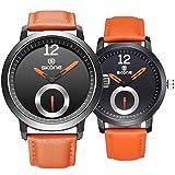 Astarsport Couple Watches Leather Watch for Men and Women he and her Watch Couple Watches Lover Watch Valentine's Watch Lovers Watch Matching Watch Orange 2pcs