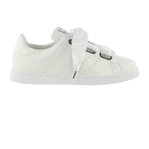 Victoria Baskets Victoria 1125154 - 1125154blanco - Zapatillas de Deporte de Otra Piel Mujer: Amazon.es: Zapatos y complementos