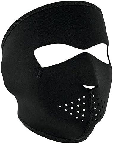 Bowie reversible red full neoprene face mask Zan Headgear  WNFM070 Biker Costume
