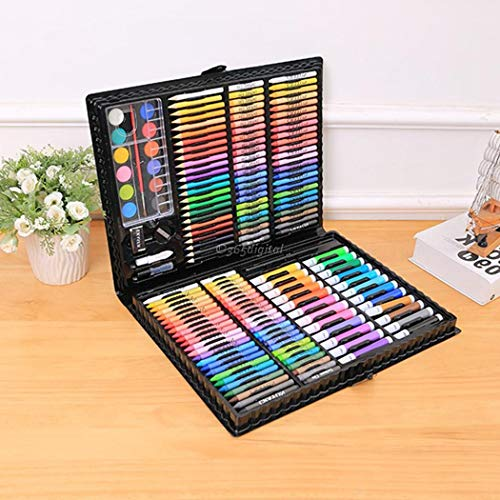 Deluxe Art Set,168Pcs Children's Drawing Painting Sketching Tools Set Watercolor Pen Crayon Oil Pastel Paint Brush Drawing Pen Color Pencil etc for Art Student Adult by cables (Image #2)