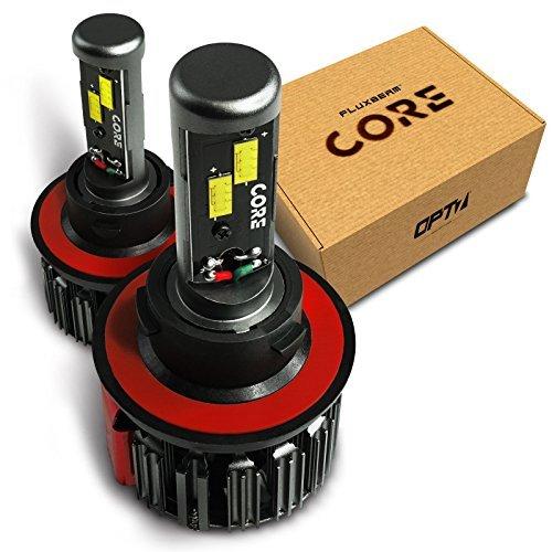 OPT7 Fluxbeam Core H13 Motorcycle LED Headlight Pair Bulbs Kit - 6000K Cool...