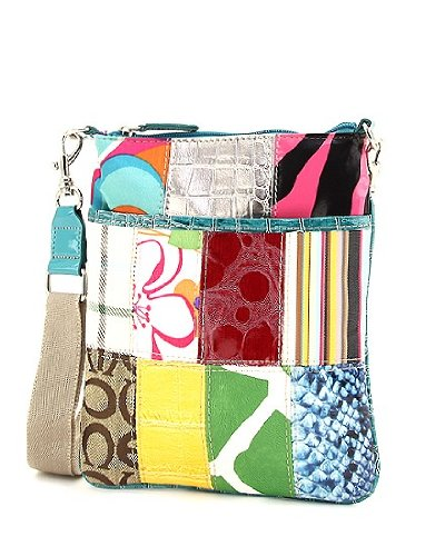 Multi Pattern Patchwork Cross Body Hipster Handbag - Choice of Colors (MTBL)