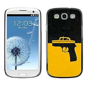 TECHCASE**Cubierta de la caja de protección la piel dura para el ** Samsung Galaxy S3 I9300 ** Taxi Gun Taxi Driver